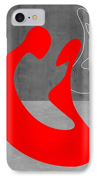 Red Couple IPhone Case by Naxart Studio