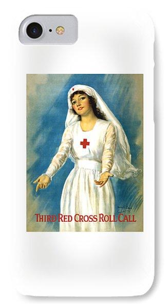 Red Cross Nurse - Ww1 IPhone Case by War Is Hell Store