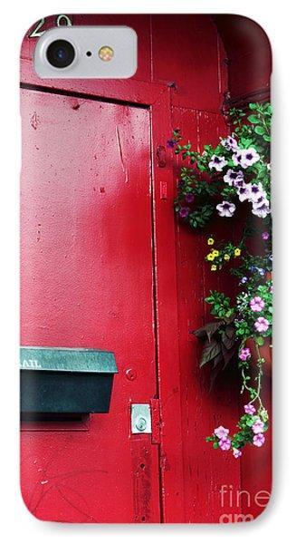 Red Door In Montreal IPhone Case by John Rizzuto