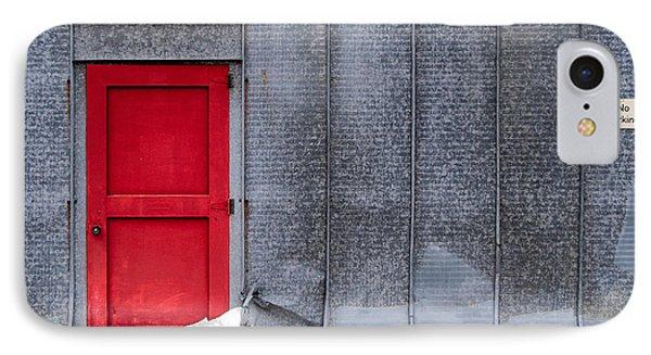 Red Door To Summer IPhone Case by Todd Klassy