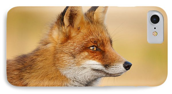 Red Fox Face IPhone Case by Roeselien Raimond