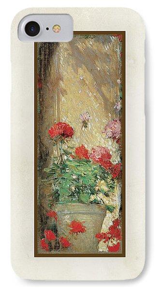 Red Geranium Pots IPhone Case by Audrey Jeanne Roberts