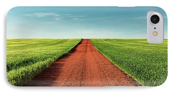 Red Gravel Road IPhone Case by Todd Klassy