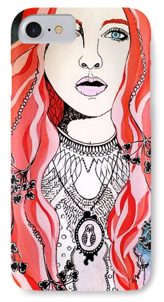 Red Head IPhone Case by Amy Sorrell
