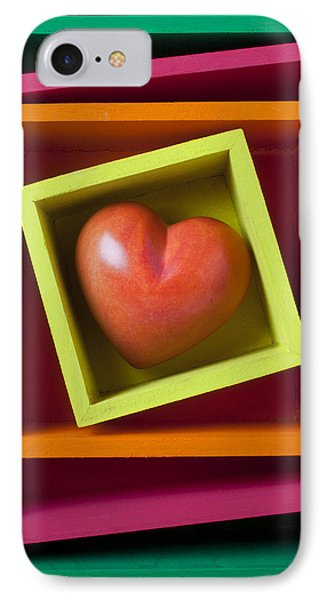 Red Heart In Box Phone Case by Garry Gay