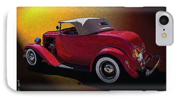 Red Hot Rod Phone Case by Kenneth De Tore
