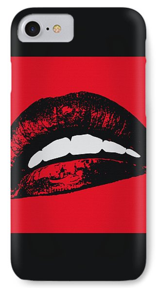 Red Lips IPhone Case by Edouard Coleman