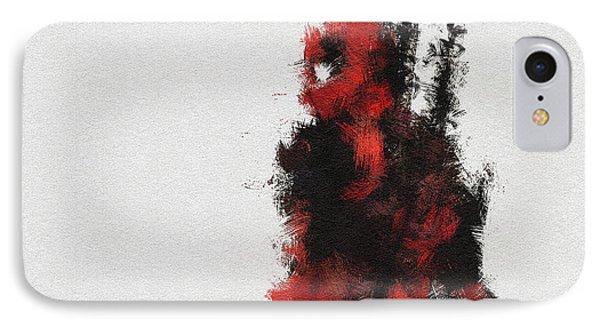 Red Ninja IPhone Case by Miranda Sether