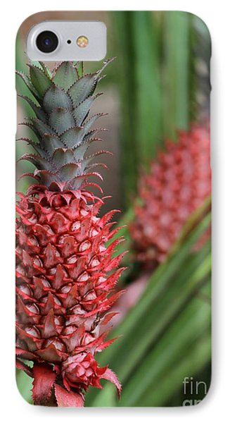 Red Pineapples Phone Case by Sabrina L Ryan