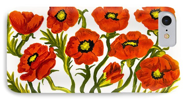 Red Poppies IPhone Case by Irina  Afonskaya