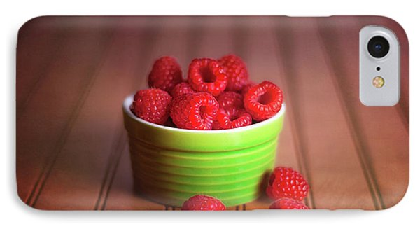 Red Raspberries Still Life IPhone 7 Case by Tom Mc Nemar