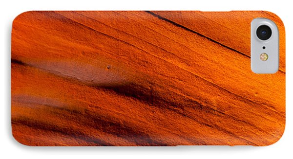 Red Rock Abstract 2 IPhone Case by Az Jackson