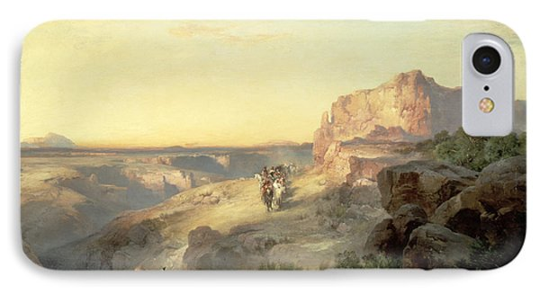 Red Rock Trail IPhone Case by Thomas Moran