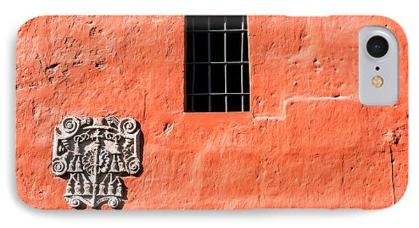 Red Santa Catalina Monastery Wall IPhone Case by Jess Kraft