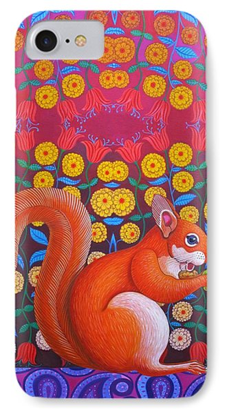 Red Squirrel IPhone 7 Case by Jane Tattersfield