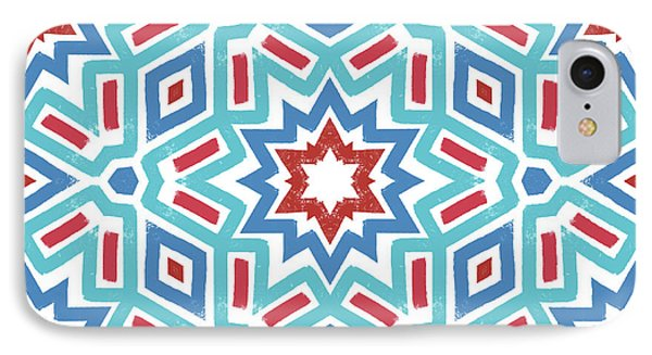 Red White And Blue Fireworks Pattern- Art By Linda Woods IPhone Case by Linda Woods