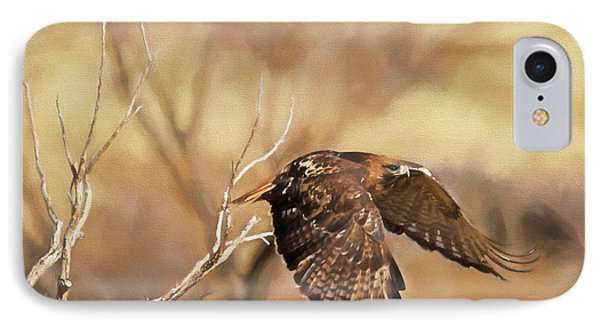 Redtail On The Move IPhone 7 Case by Donna Kennedy