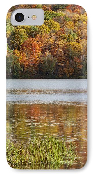 Reflection Of Autumn Colors In A Lake Phone Case by Susan Dykstra