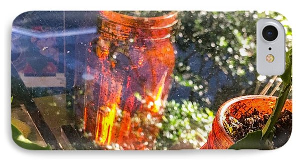 Reflections Of A Jar IPhone Case by Kendall Tabor