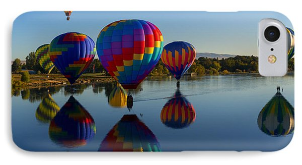 Reflections Of Seven IPhone Case by Mike Dawson