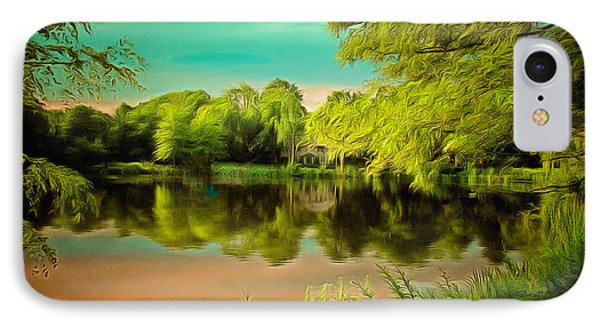 Reflections On A Pond IPhone Case by Anthony Caruso