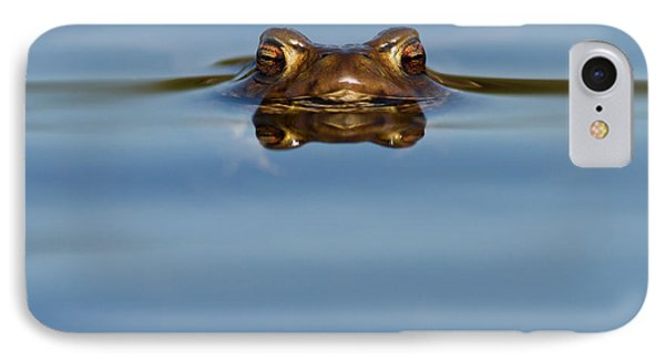 Reflections - Toad In A Lake IPhone 7 Case by Roeselien Raimond