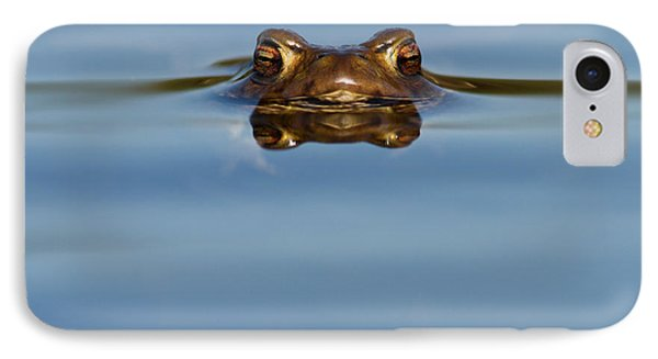 Reflections - Toad In A Lake IPhone Case by Roeselien Raimond