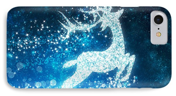 Reindeer Stars IPhone Case by Setsiri Silapasuwanchai
