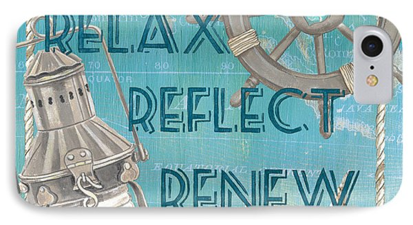 Relax Reflect Renew IPhone Case by Debbie DeWitt