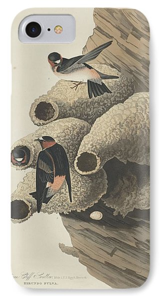 Republican Cliff Swallow IPhone Case by John James Audubon