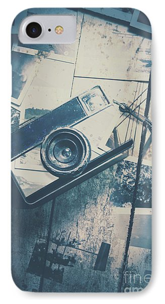 Retro Camera And Instant Photos IPhone Case by Jorgo Photography - Wall Art Gallery