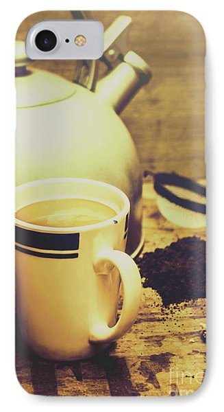 Retro Kettle With The Mug Of Tea IPhone Case by Jorgo Photography - Wall Art Gallery