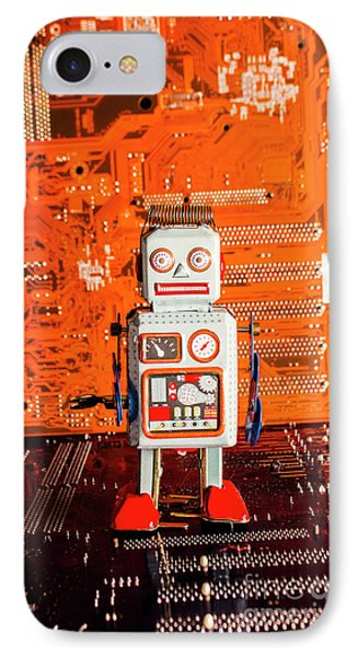 Retro Robotic Nostalgia IPhone Case by Jorgo Photography - Wall Art Gallery