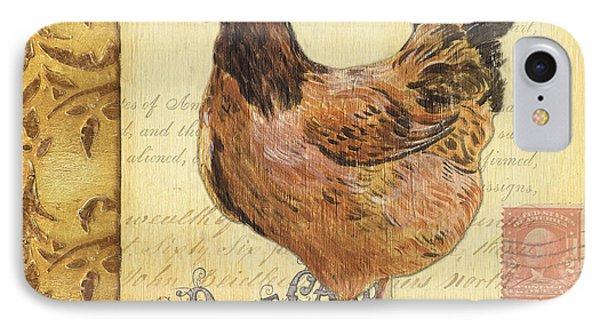 Retro Rooster 1 IPhone Case by Debbie DeWitt