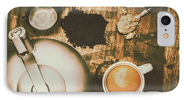 Retro Tea Background IPhone Case by Jorgo Photography - Wall Art Gallery