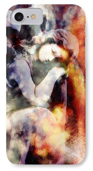Revelation Abstract Realism  IPhone Case by Georgiana Romanovna