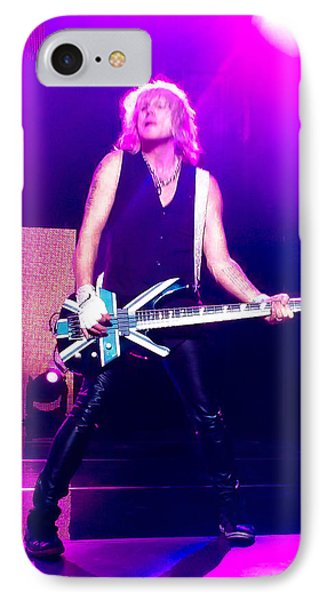 Rick Savage Of Def Leppard IPhone 7 Case by David Patterson