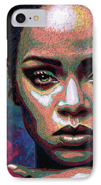 Rihanna IPhone 7 Case by Maria Arango