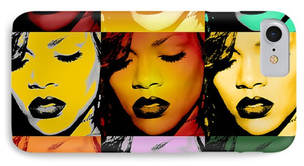 Rihanna Warhol By Gbs IPhone 7 Case by Anibal Diaz