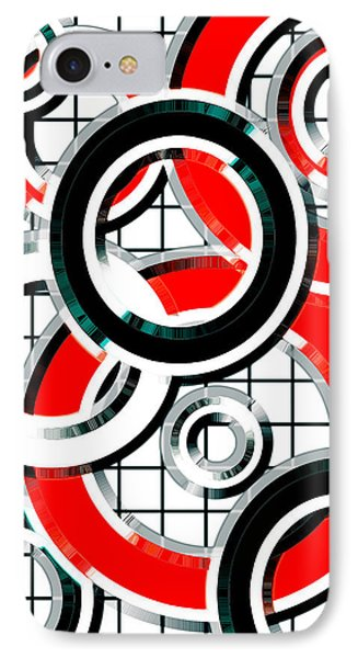 Ring Toss 3 IPhone Case by Shawna Rowe