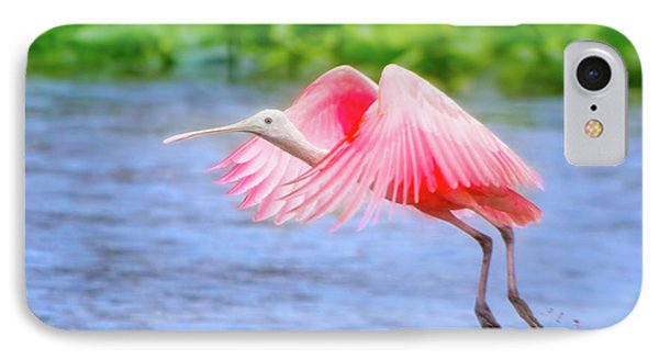 Rise Of The Spoonbill IPhone Case by Mark Andrew Thomas