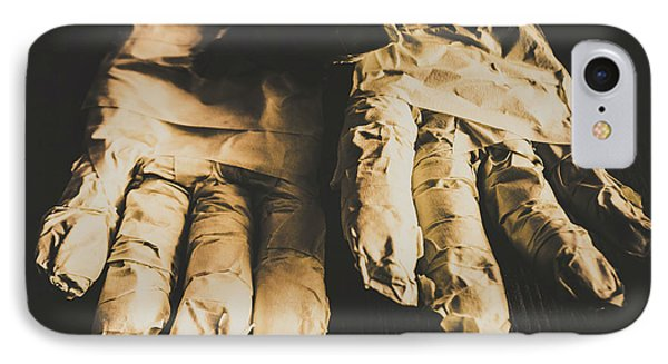 Rising Mummy Hands In Bandage IPhone Case by Jorgo Photography - Wall Art Gallery