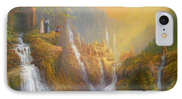 Rivendell Wisdom Of The Elves. IPhone Case by Joe  Gilronan