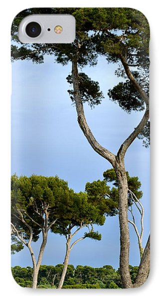 Riviera Trees Phone Case by Corinne Rhode
