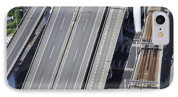 Road And Rail Intersection Phone Case by Andy Smy