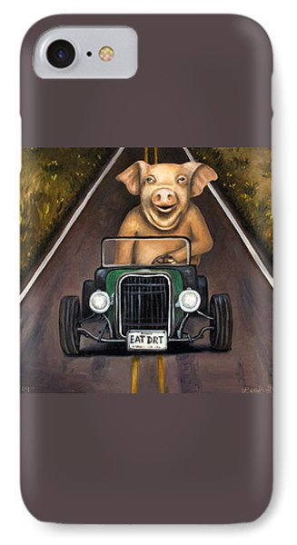 Road Hog Phone Case by Leah Saulnier The Painting Maniac