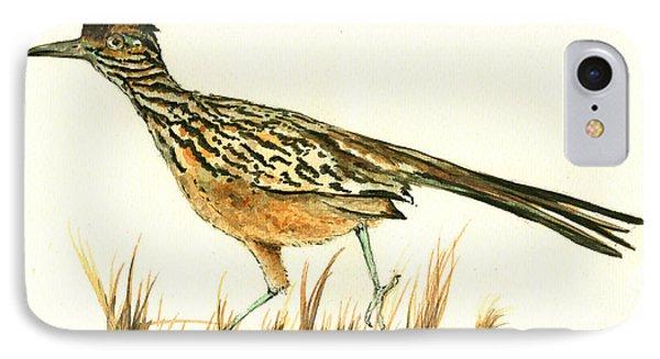 Roadrunner Bird IPhone 7 Case by Juan Bosco