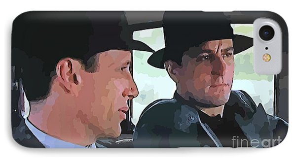 Robert De Niro And James Woods IPhone Case by John Malone