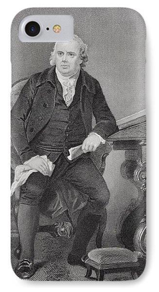 Robert Morris 1734-1806. American IPhone Case by Vintage Design Pics