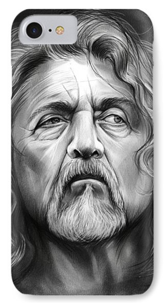 Robert Plant IPhone 7 Case by Greg Joens